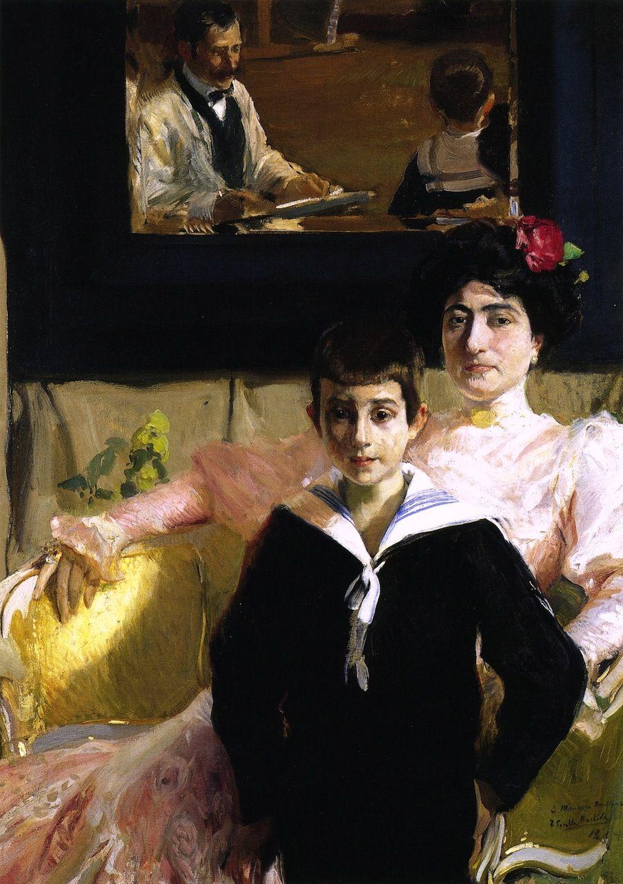 The Athenaeum - Lucrecia Arana with her Son (Joaquin Sorolla y Bastida - )