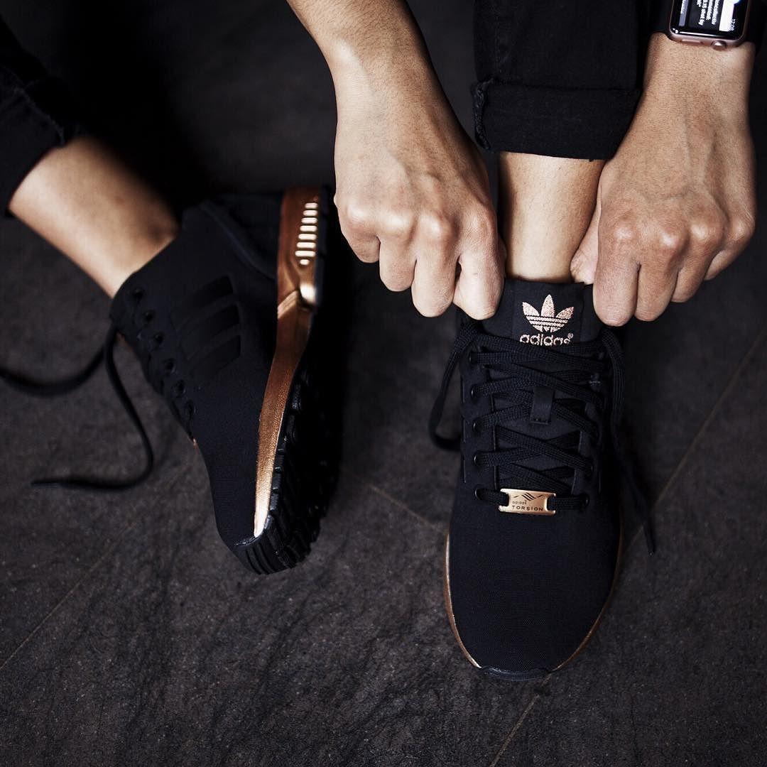 adidas originals zx flux core black copper
