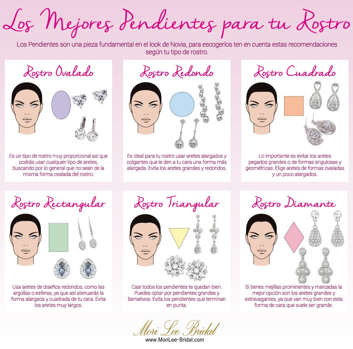 201533b3a118 Una Novia debe resaltar y hacer brillar su rostro y los pendientes son una  exelente manera de hacerlo. Te mostramos qué tipos de pendientes son  ideales para ...