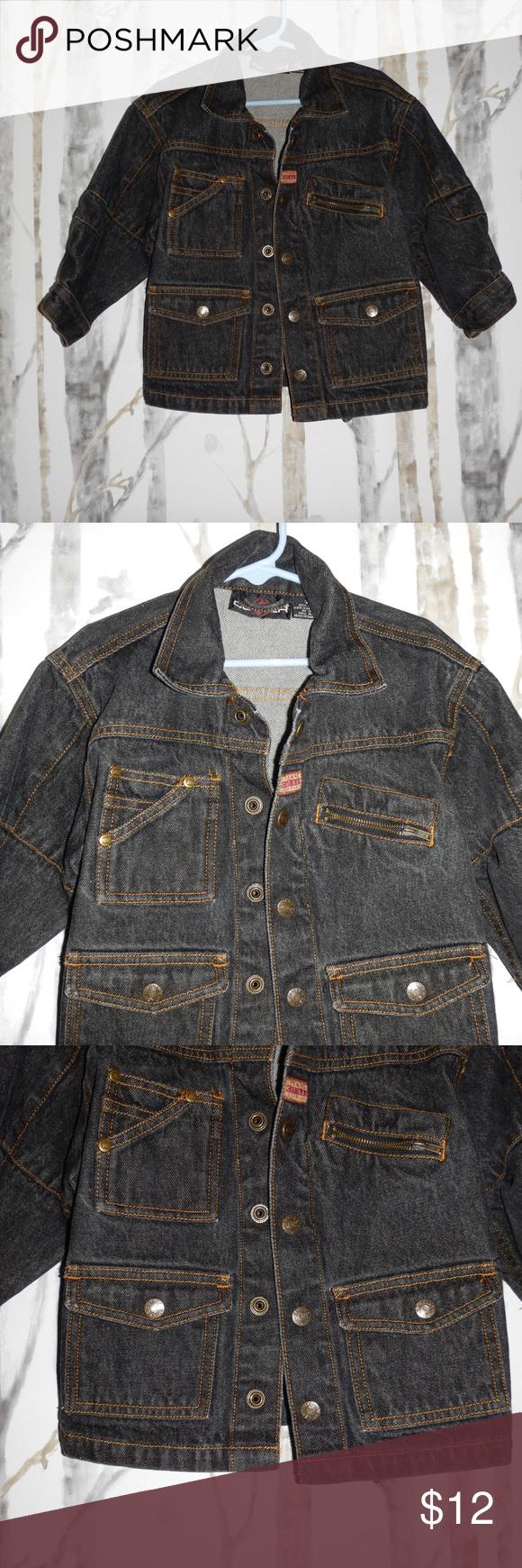 Cotler Boys Denim Jacket Cotler Boys Black Denim Jean Jacket Size 3t