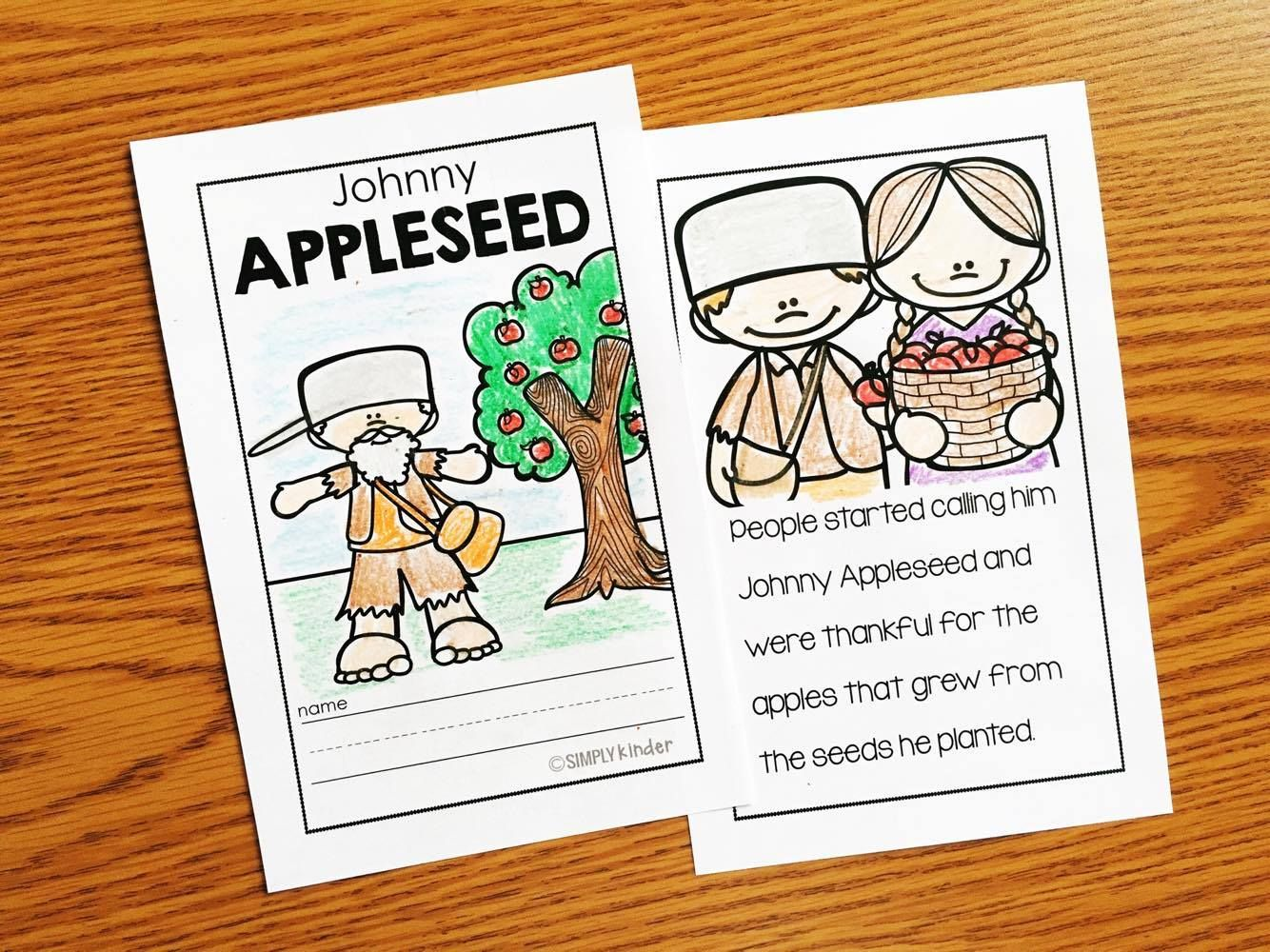 Free Johnny Appleseed Hat More Books With Activities Pinterest