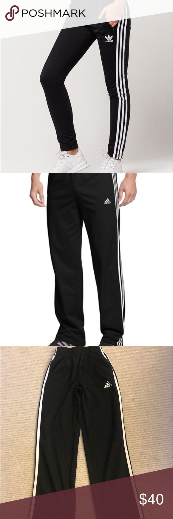 Authentic Adidas track pants Authentic Adidas track pants perfect for both genders. Never worn Adidas Pants Track Pants & Joggers
