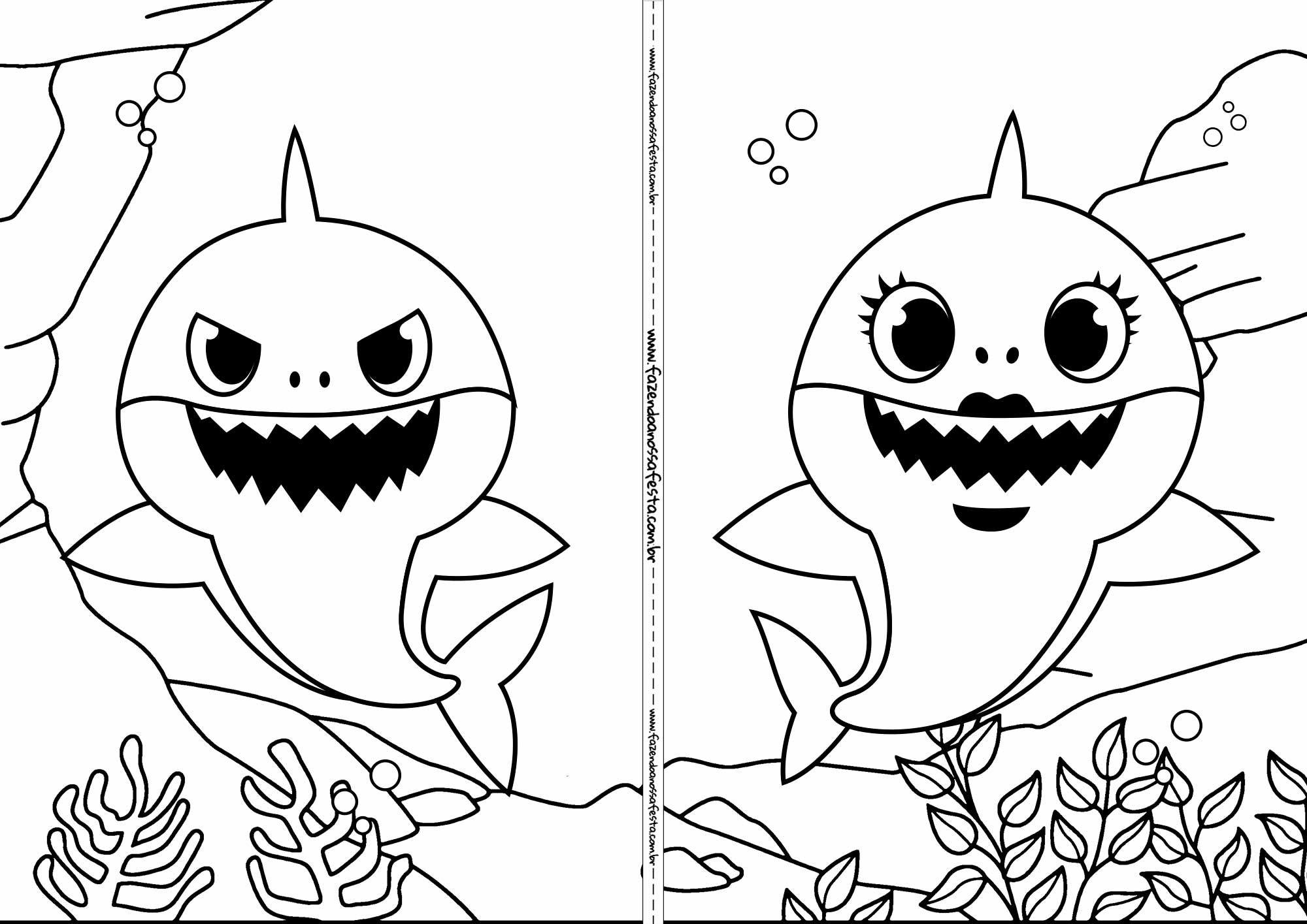 Livrinho Para Colorir Baby Shark 5 Colorir Livros E Festa