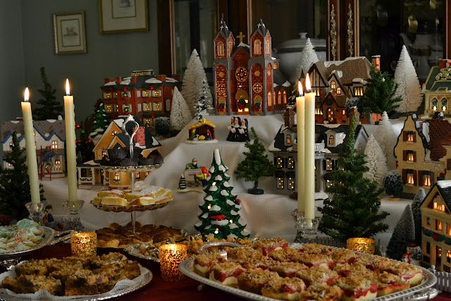 Dept 56 Snow Village Cookie Table Christmas Table Decorations Snow Village Christmas Table