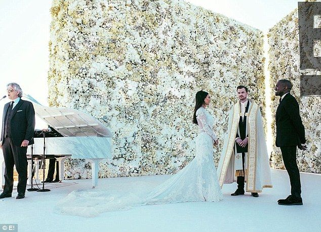 Kim S Wedding Day Flower Wall Was Built To Match Her Givenchy