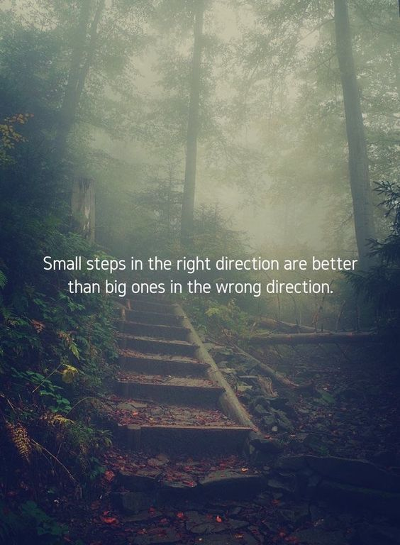 Small steps... #directionquotes
