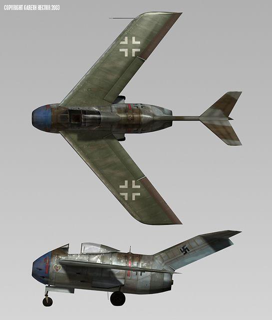 Focke-Wulf Ta 183B-2 by Gareth Hector (Computer Generated)