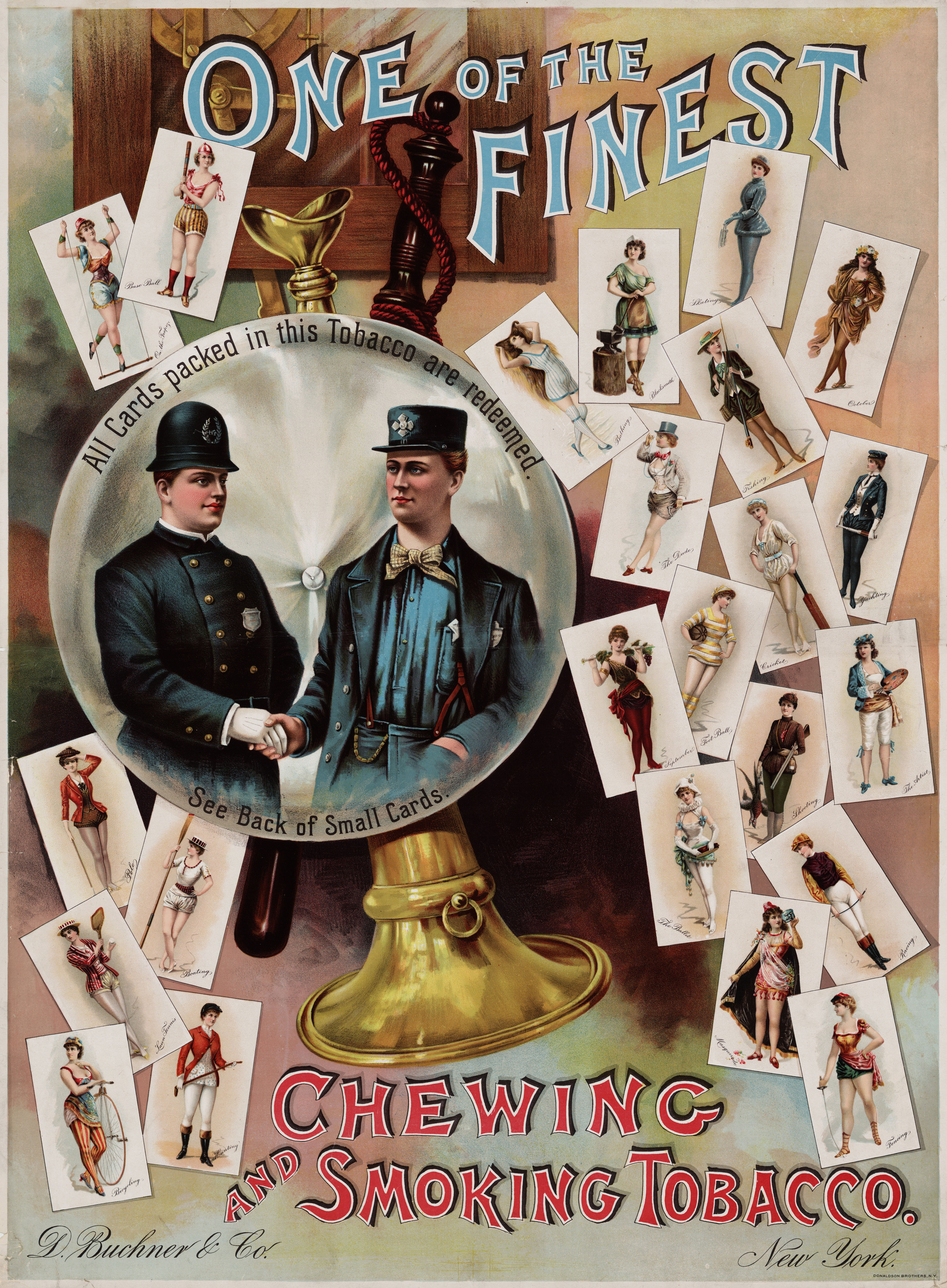 File One Of The Finest Advertising Poster For Tobacco Collecting Cards Ca Vintage Posters Poster Prints Prints