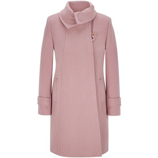 CC Fold Collar Wool Duffle Coat ($220) ❤ liked on Polyvore ...