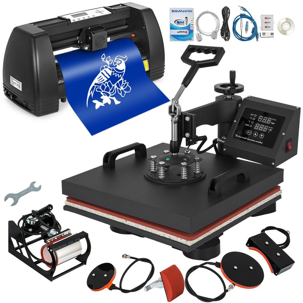 5in1 Heat Press 15 X15 Vinyl Cutter Plotter 14 Diy Stepper Motor Handicraft Vinyl Printer Vinyl Cutter Printable Heat Transfer Vinyl