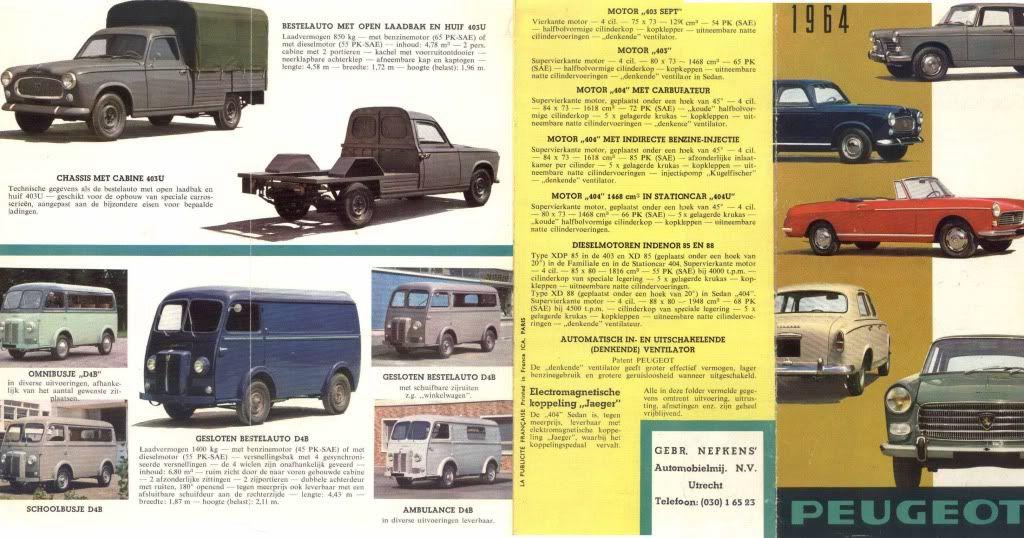 Nefkens Peugeot, Brochure, Leaflet