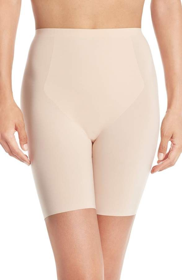43bdf6a2f75447 Women's Spanx Thinstincts Mid Thigh Shorts, Size X-Large - Beige ...