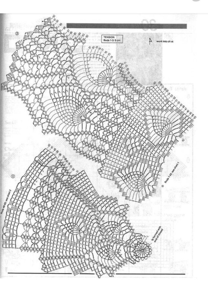 pattern diagram for tablecloth crochet tablecloths. Black Bedroom Furniture Sets. Home Design Ideas