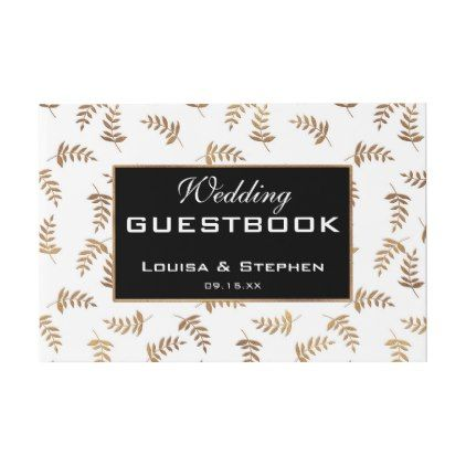 Gold and black wedding guestbook cyo customize design idea do it gold and black wedding guestbook cyo customize design idea do it yourself diy solutioingenieria Images