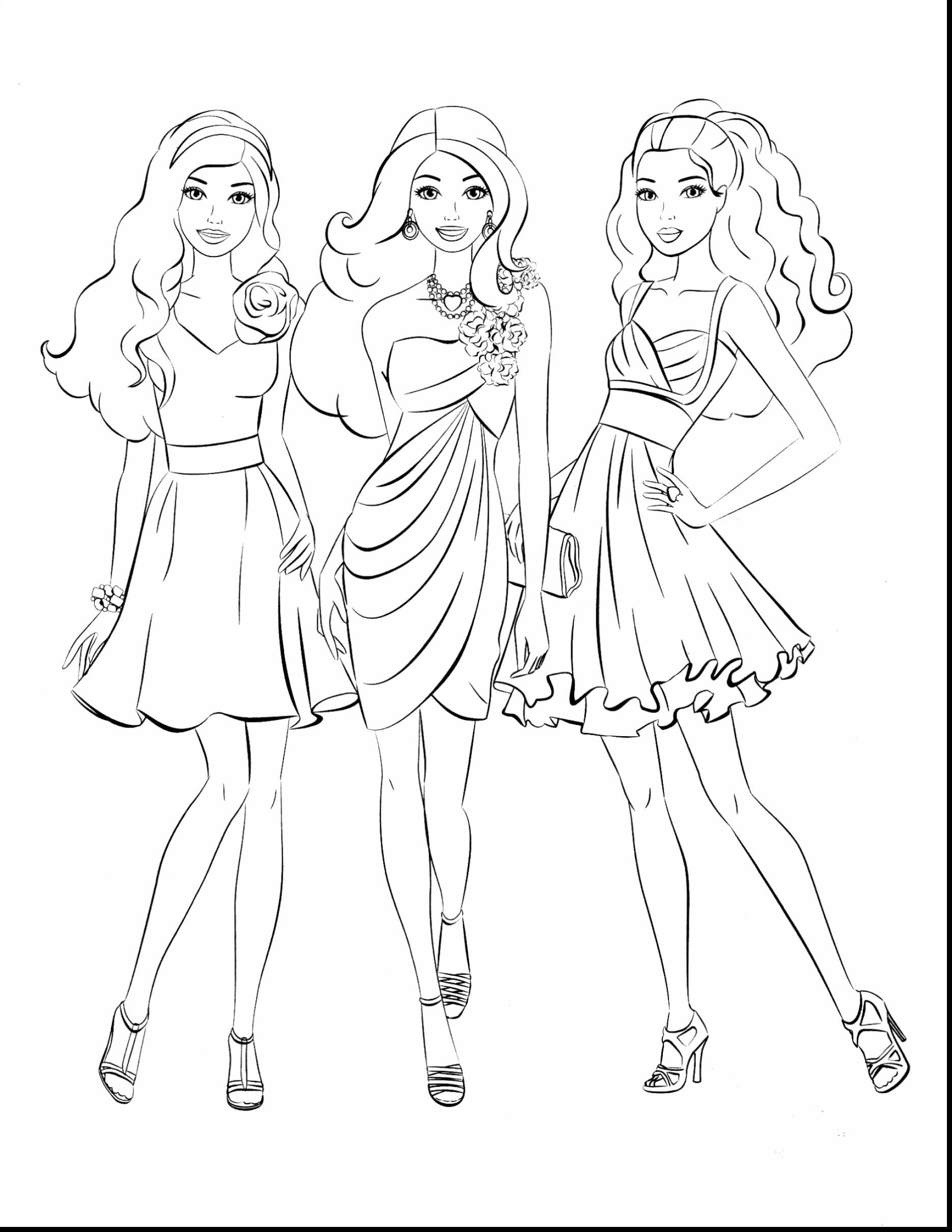 Impressive Barbie Coloring Pages With Coloring Pages