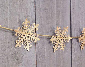 xmas snowflake garland