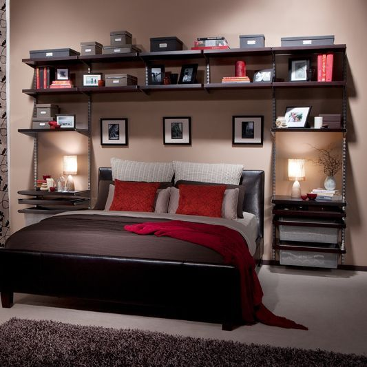 Howards Storage World | elfa Bedroom Wall Custom Unit Platinum ...
