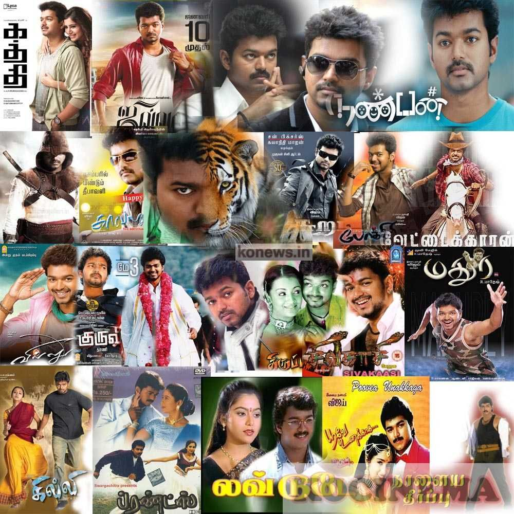 actor vijay all movies in one poster vijay acted 58 movies in tamil