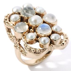 Nicky Butler Cultured Freshwater Pearl and Moonstone Ring at HSN.com.