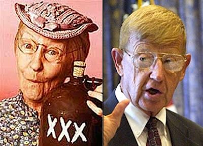 Granny Clampett of the Beverly Hillbillies, and ESPN analyst Lou Holtz,   Funny pictures, Funny, Funny faces