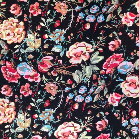Modern Bohemian Apparel Fabric Jersey Boho Floral Multi