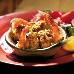 Stuffed Jumbo shrimp with crab cakes...here's the crab cake recipe...http://www.myrecipes.com/recipe/uncle-franks-crab-cakes-10000001056997/