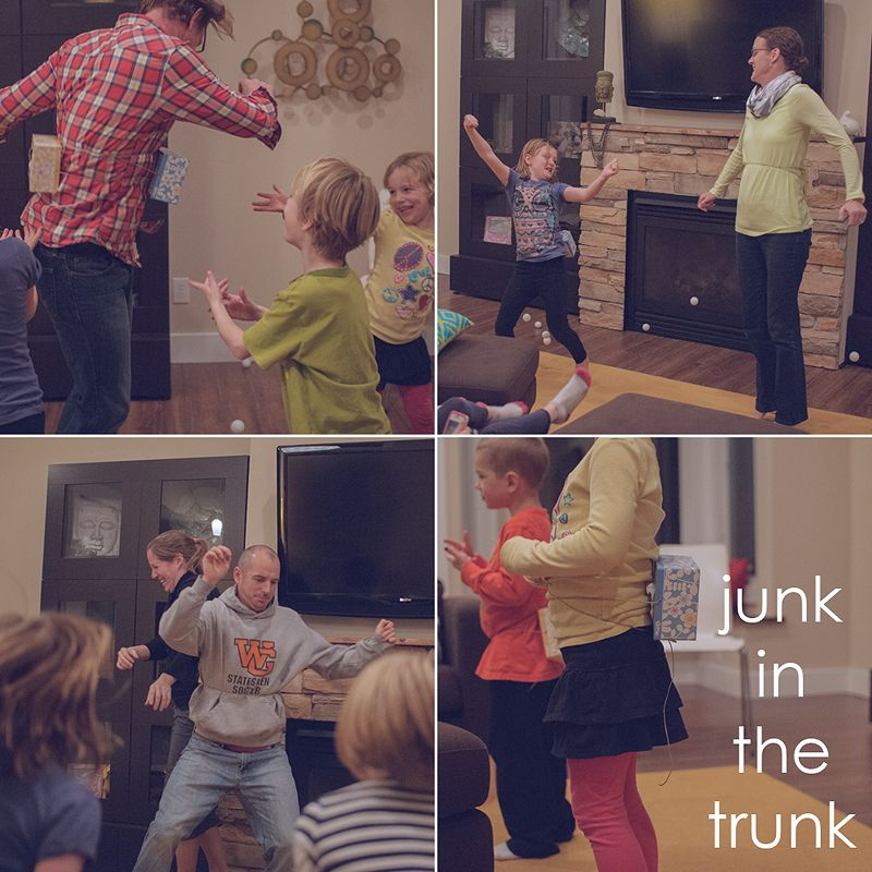 Group Games For Christmas Party: Junk In The Trunk - Minute To Win It Games