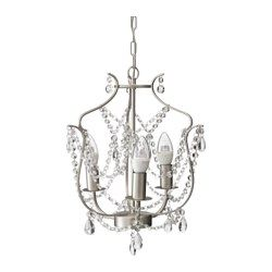 ikea lighting chandeliers. IKEA KRISTALLER Chandelier, Silver-colour/glass The Height Is Easy To Adjust By Using S-hook Or Cutting Chain. Ikea Lighting Chandeliers Pinterest