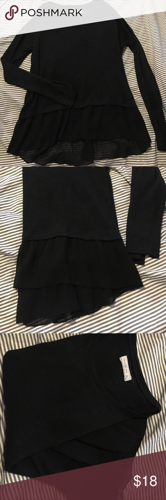 Abercrombie & Fitch black sweater | Abercrombie fitch, Sheer ...