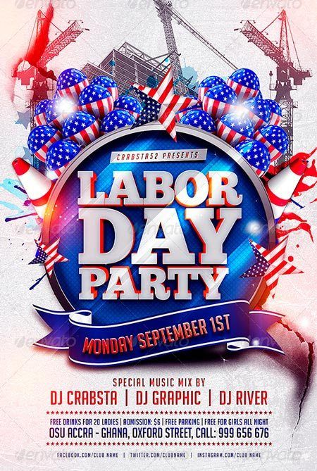 Labor Day Weekend  Flyers  Happy Labor Day    Labour