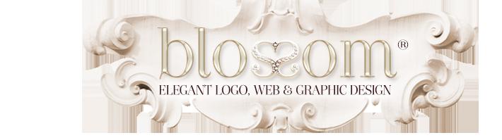 Blossom Graphic Design Boutique Web Design, Boutique Graphic Design, Ladylike Logos, Boutique Logo Design, Feminine and Glamorous Logo, Graphic and Web Design For Small, Elegant Business