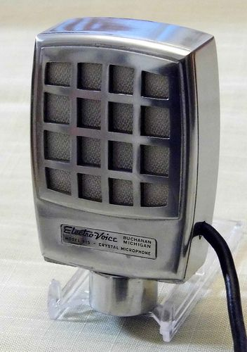 Vintage Electro Voice Century Crystal Microphone Model 915 Push To Talk Made In Usa Circa 1950 Microphones Old Microphone Microphone