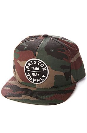 118273599abb6 Snapback Fashion Blog Brixton Men s The Oath III Hat in Camo ...