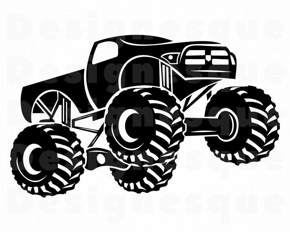 Monster Truck 2 Svg Monster Truck Svg Monster Truck Etsy In 2020 Monster Trucks Trucks Monster Truck Drawing