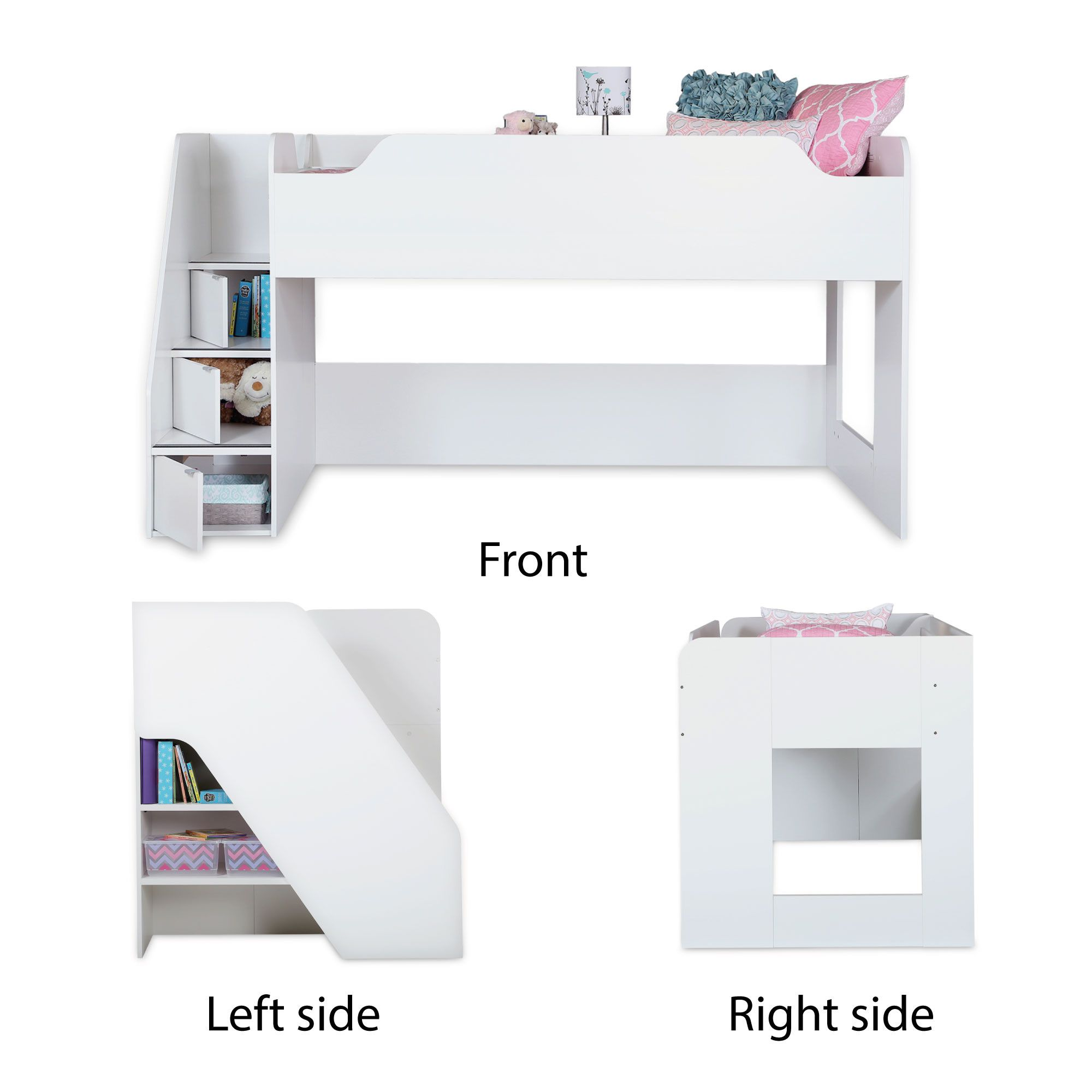 Mobby Twin Loft Bed with Stair   Wayfair