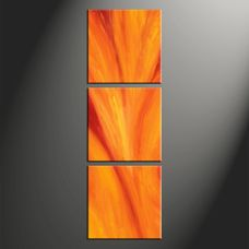 3 Piece Oil Painting Canvas Orange Vertical Abstract Wall Art Abstract Painting Triptych Art Abstract Wall Art 3 Piece Canvas Art Canvas Wall Art Set