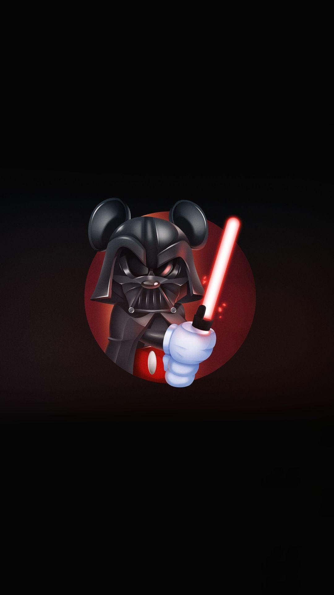 Micky Mouse Darth Vader Star Wars Minimal Art 1080x1920