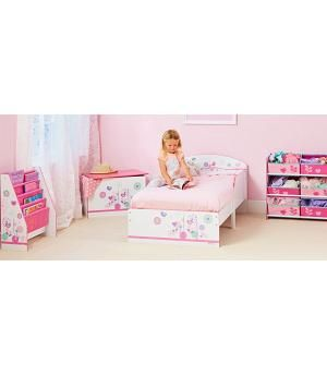 946b2057b Cama para niños, dibujos Pajaritos de madera. 454FLW+. Colchón y almohada  Camas De
