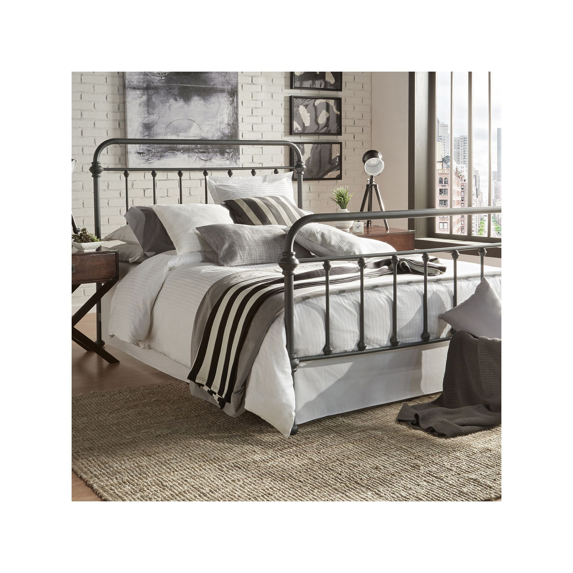 Homevance Homevance Alaina Metal Bed Products Metal Beds Bed