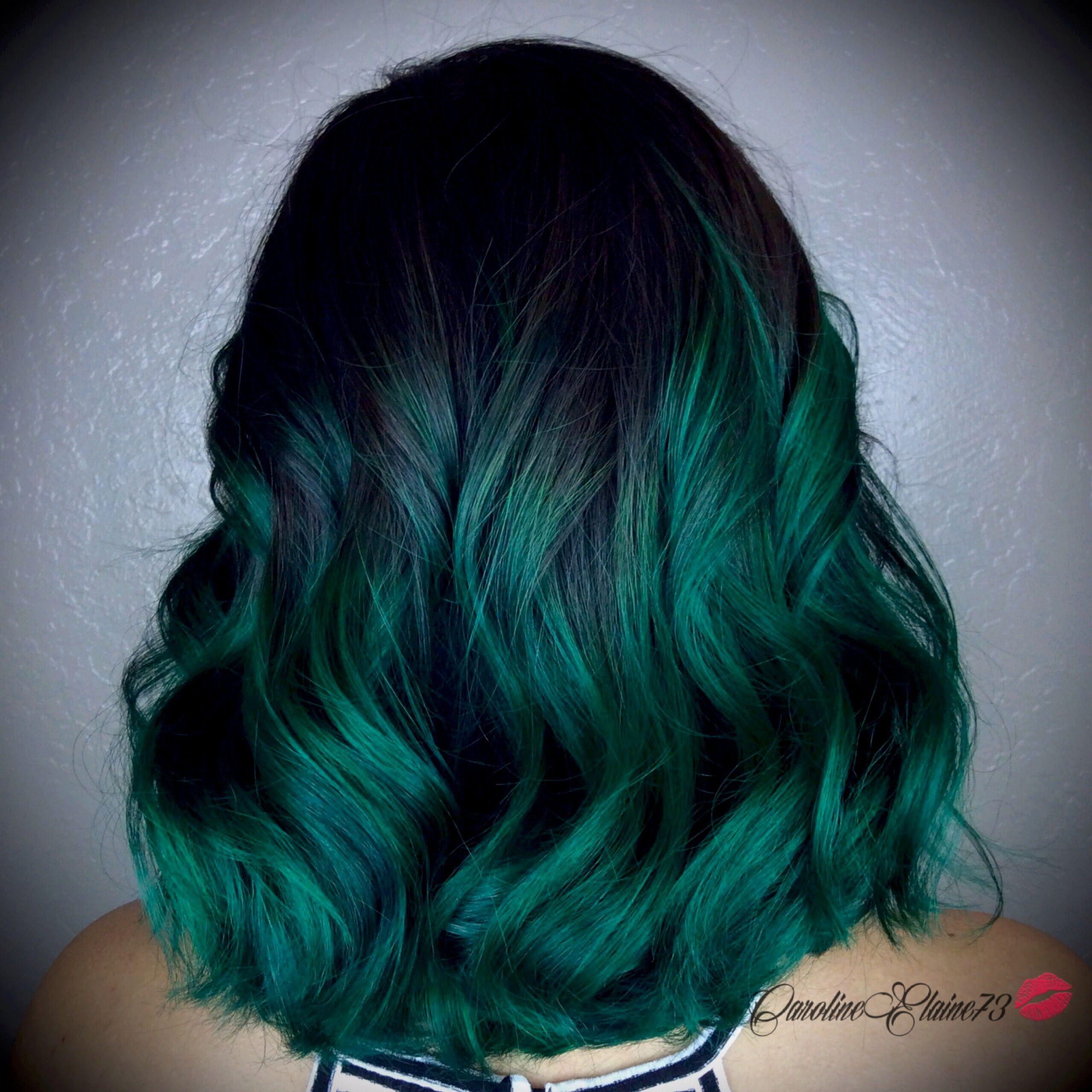 Emerald Green Ombre Hair by @CarolineElaine73 www ...