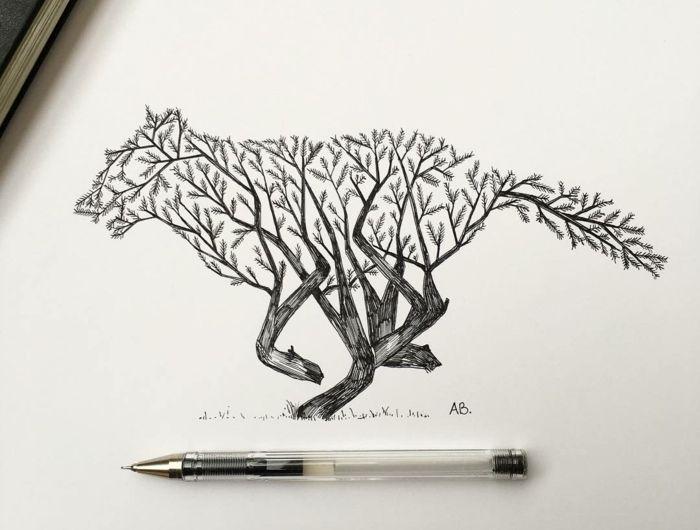 1001 id es pour dessiner un arbre merveilleux avec exemples dessin au crayon et fusain. Black Bedroom Furniture Sets. Home Design Ideas