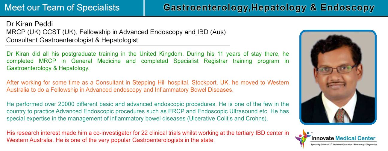 Meet our team of Specialists: Gastroenterology, Hepatology