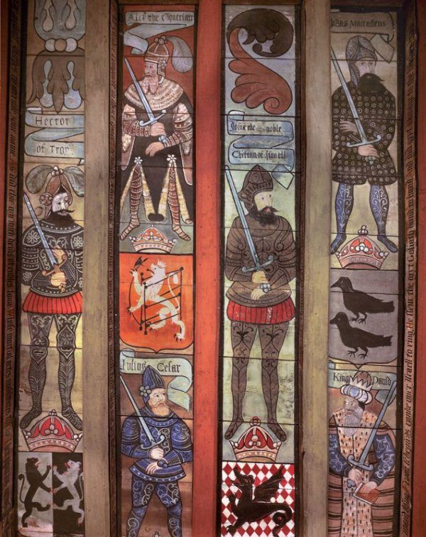 Crathes Castle ceiling, Scotland, c1599