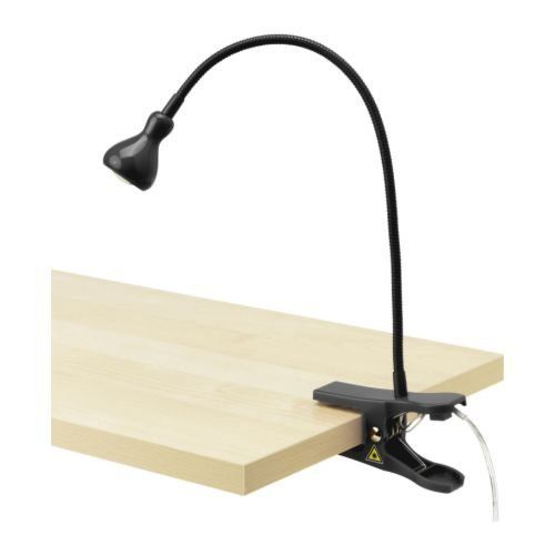 Oliadesign 46099 Energy Efficient Led Clamp Lamp Light Black With Images Clamp Lamp Ikea Wall Lights Ikea