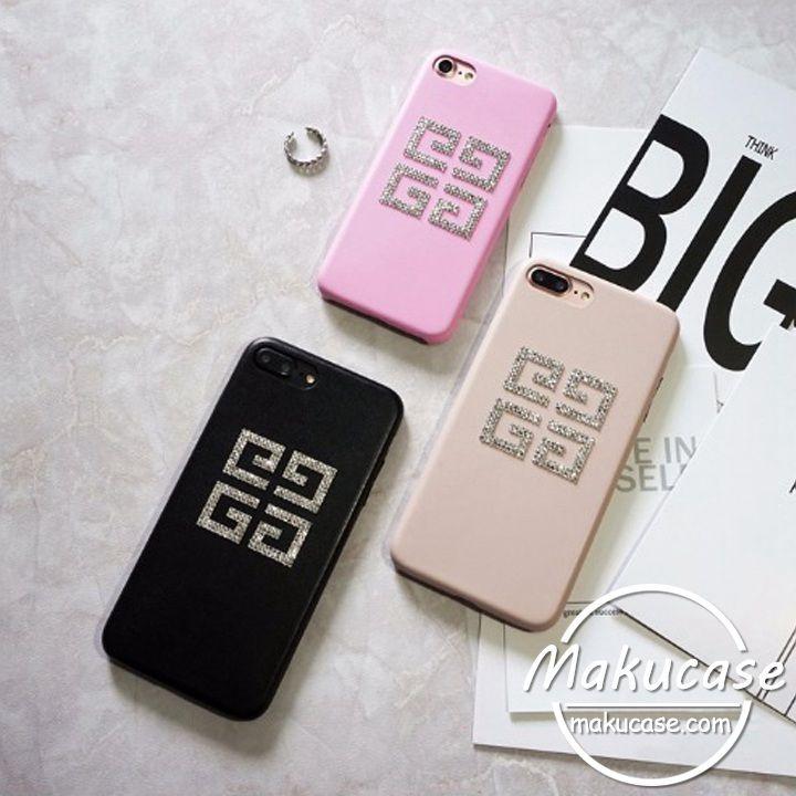 欧米ブランド givenchy ジバンシィ iphone7 8ケース iphone7plusケース キラキラ華奢なダイヤモンドロゴ iphone8 iphone7s ケース 女性用おしゃれ アイフォンケース 可愛いiphone6s plusケース ケース 7plus ケース iphoneケース