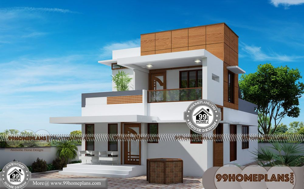 Low Cost 3 Bedroom House Plan Kerala With Double Story House Pictures Having 2 Floor 3 Total Bedroom 3 T Modern House Floor Plans House Plans New House Plans