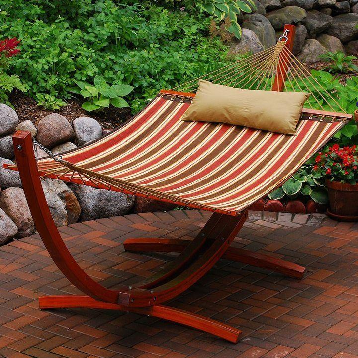 Algoma 2piece striped hammock stand set turn diy