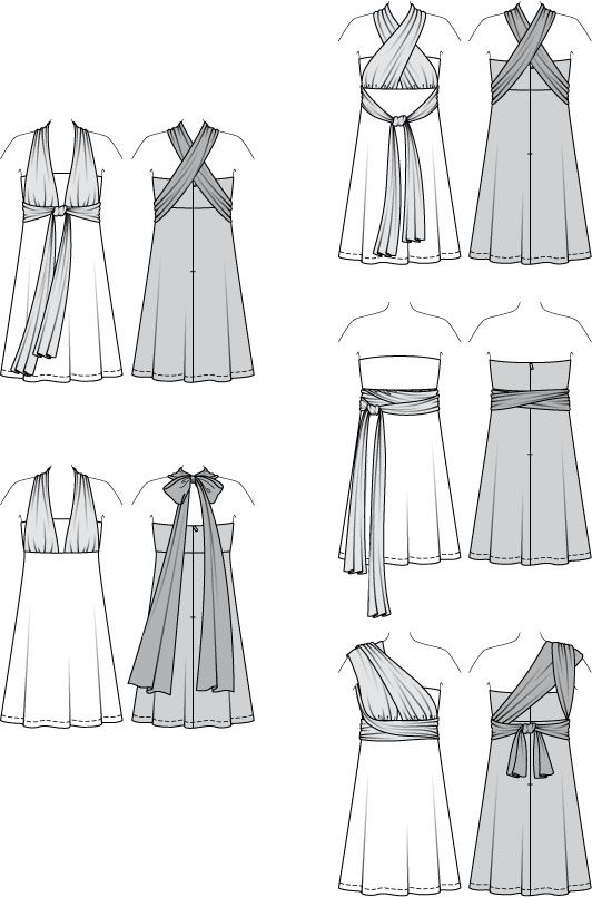 actual pattern for infinity dress   Sewing   Dress patterns, Sewing ... d7db9f5fa0