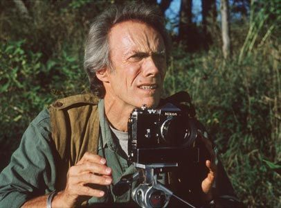 """""""The Bridges of Madison County"""", Clint Eastwood played Robert Kincaid, a photographer who was sent by National Geographic to shoot the covered bridges in Madison County. The Nikon F36 setup he used in the movie was powered by a Remopak/Powercorn battery pack. Even his black Nikon F with a mis-matched chrome prism would be an accurate replica of a typical workhorse camera used by the pro in 1960s."""
