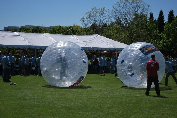 Human Hamster Balls! So much fun for a birthday party